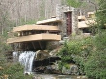 Frank Lloyd Wright's famous Falling Waters.