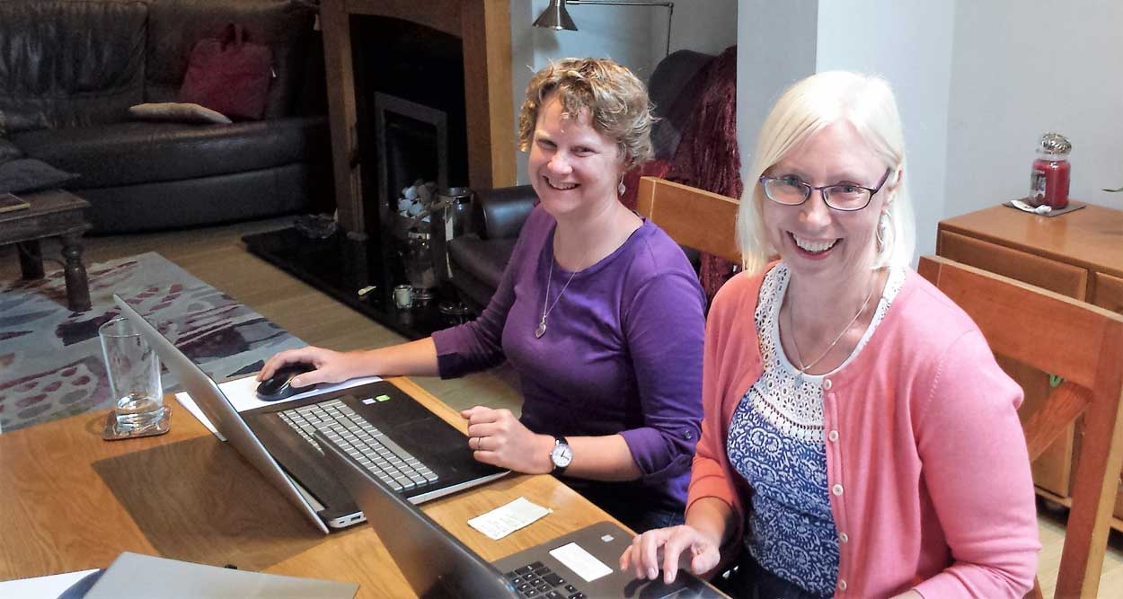 sarah-and-annabel-at-our-desk